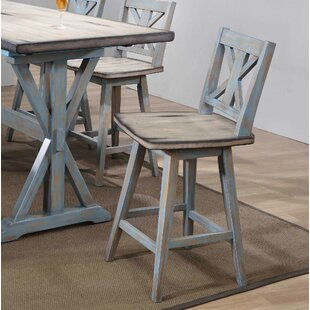 Mayes Swivel Bar Stool (Set of 2) by Rosecliff Heights