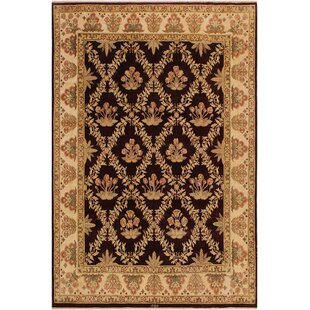 Price comparison One-of-a-Kind Roby Pak-Persian Hand-Knotted 8'3 x 10'2 Wool Black/Beige Area Rug By Isabelline