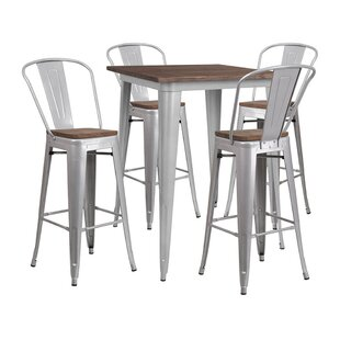 Mudd Square 5 Piece Pub Table Set