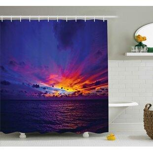 Colleen Dream Sunset Shower Curtain + Hooks