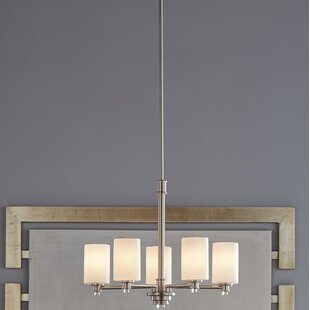 Bourdeau 5-Light Shaded Chandelier by Darby Home Co