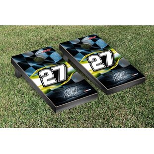 Victory Tailgate NASCAR #27 Paul Menard Racing Flag Version Cornhole Game Set