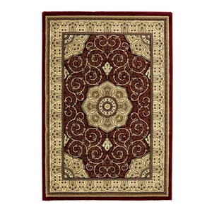 Campbell Red Rug by Andover Mills