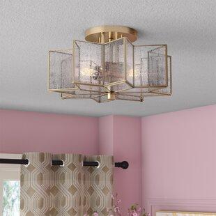 Willa Arlo Interiors Conley 2-Light Flush Mount