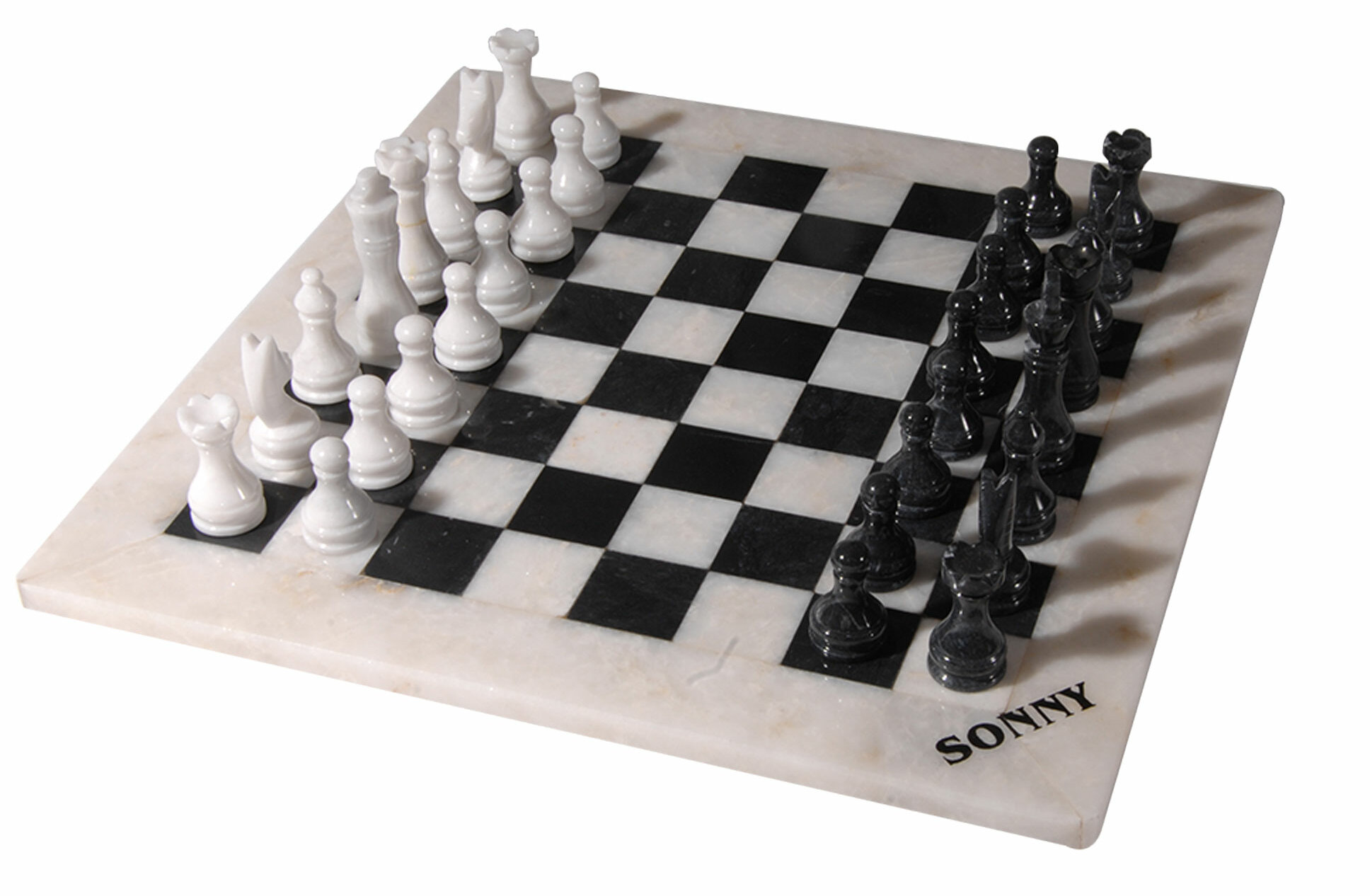 Rembrandt Home Polished Marble Chess Set | Wayfair
