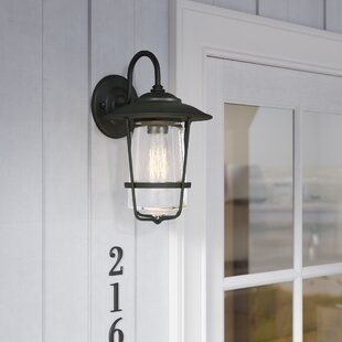 Affordable Price Glen Outdoor Wall lantern By Beachcrest Home