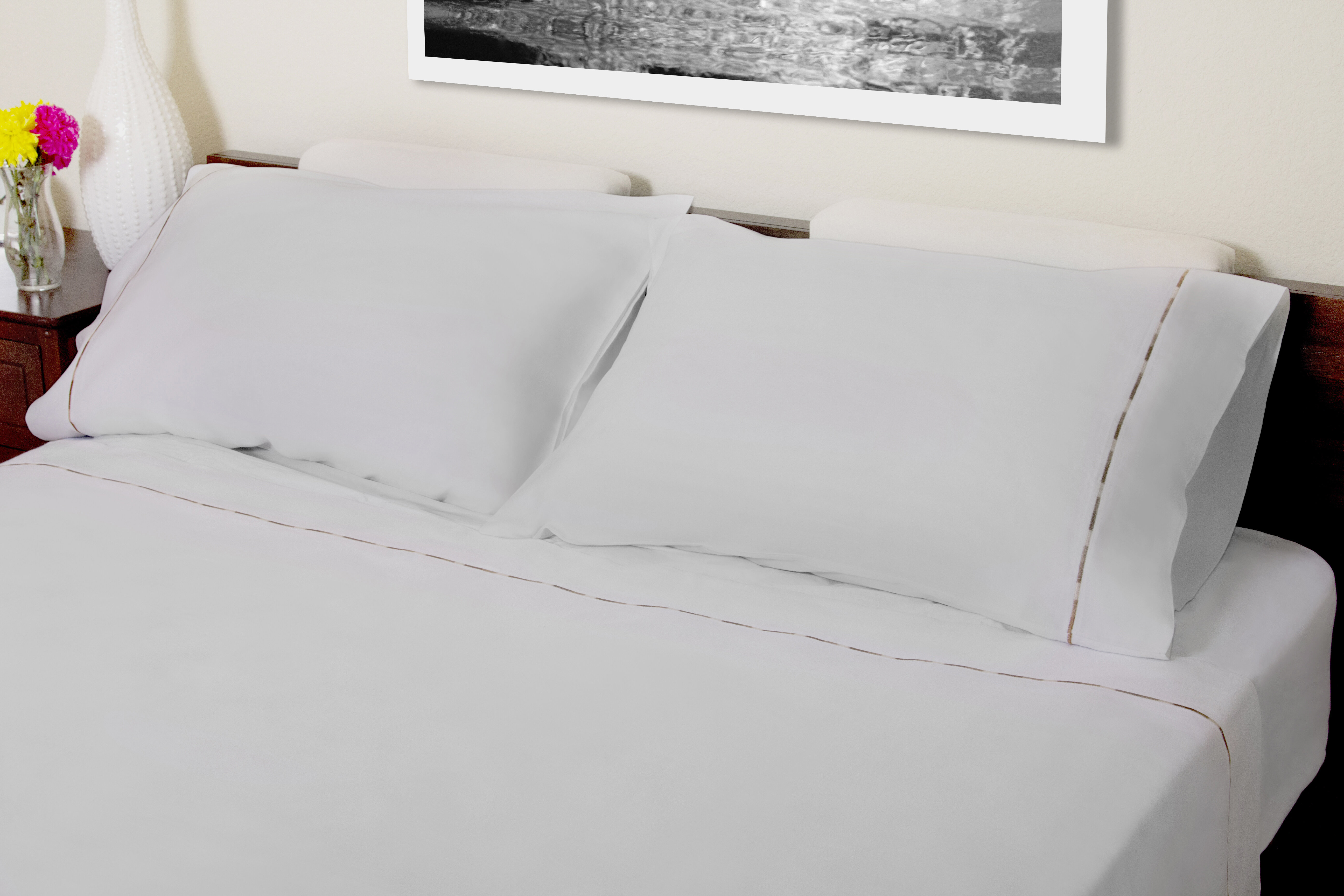 Red Barrel Studio Hagerty Embroidery 310 Thread Count Solid 100 Cotton Sheet Set Wayfair