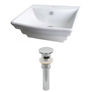 Reviews Ceramic 20 Wall Mount Bathroom Sink with Overflow ByAmerican Imaginations