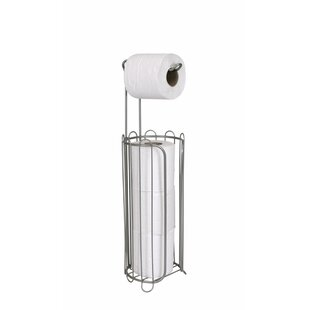 Compare & Buy Free Standing Toilet Paper Holder with Dispenser ByHome Basics