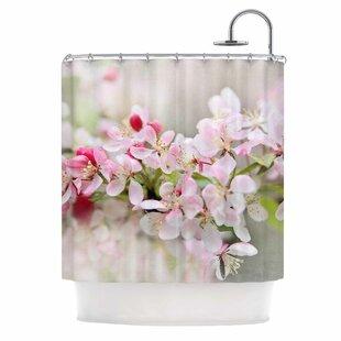 'April Flowers' Single Shower Curtain