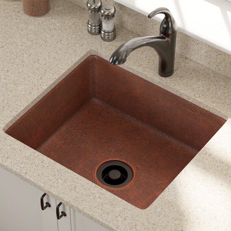 copper 25   x 22   undermount kitchen sink mrdirect copper 25   x 22   undermount kitchen sink  u0026 reviews   wayfair  rh   wayfair com