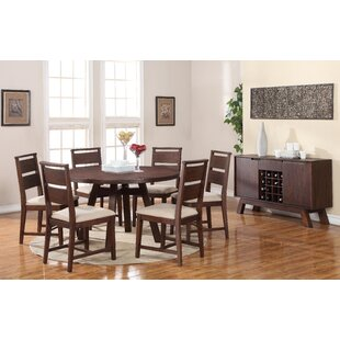 Damiani 7 Piece Solid Wood Dining Set
