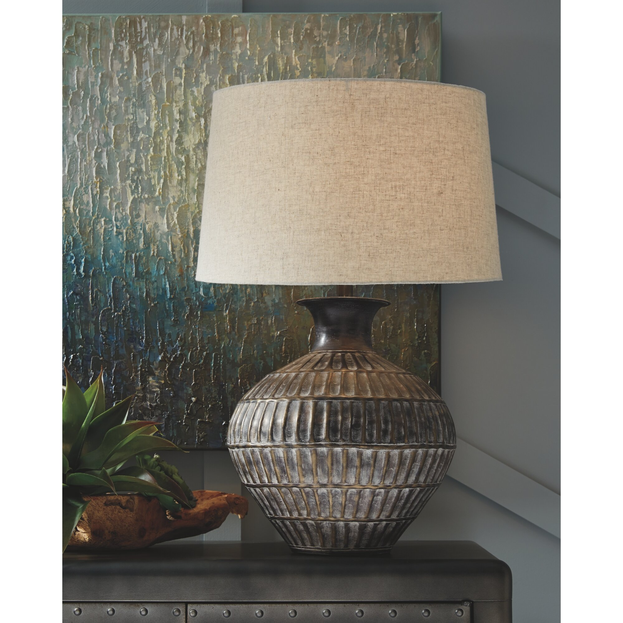 Ivy Hill 29 Antique Bronze Table Lamp