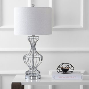 Metal wire table lamp wayfair fifield metal wire frame 28 table lamp greentooth Images
