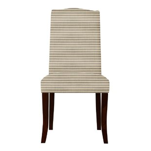 Latitude Run Guttenberg Horizontal Stripe Parsons Chair (Set of 2)