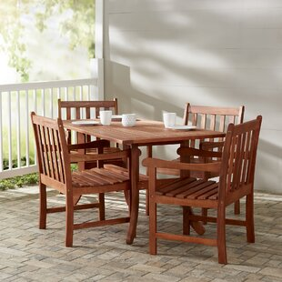 Monterry 5 Piece Rectangular Wood Dining ..