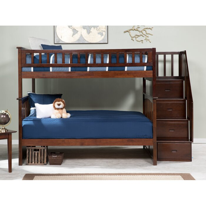 Harriet Bee Abel Staircase Full Over Full Bunk Bed Reviews