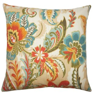 Danail Floral Cotton Throw Pillow