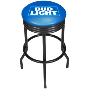 Bud Light Ribbed 28.5 Swivel Bar Stool Trademark Global