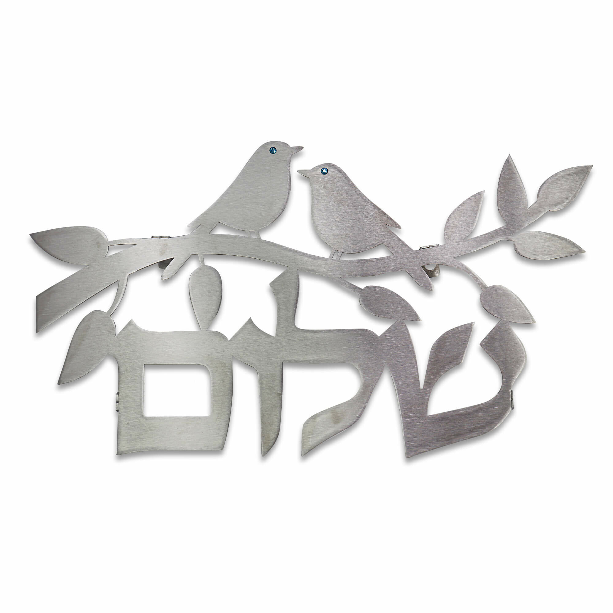 Birds Floating Letters Plaque Wall