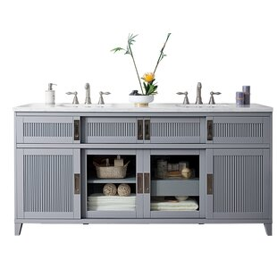 Brisbane 72 Double Bathroom Vanity Base by James Martin Furniture