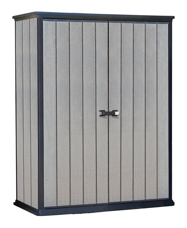 Garden Sheds 6 X 2 keter high store 4 ft. 6 in. w x 2 ft. 5 in. d plastic vertical
