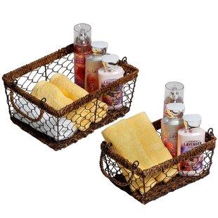 Compare 2 Piece Rectangular Basket Set ByLaurel Foundry Modern Farmhouse