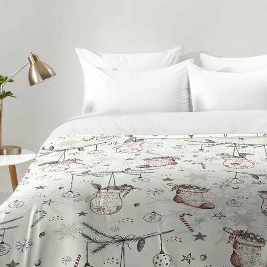 Christmas Comforter.Squirrel Heavenly Christmas Comforter Set