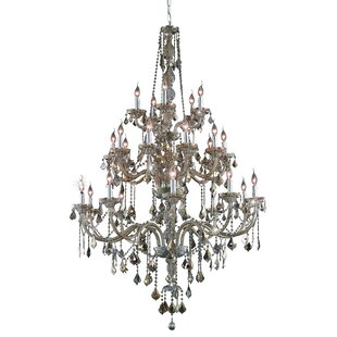 Petties 25-Light Candle Style Chandelier by Astoria Grand