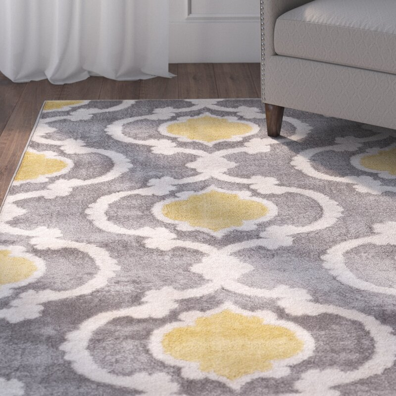 Superior Melrose Gray/Yellow Area Rug