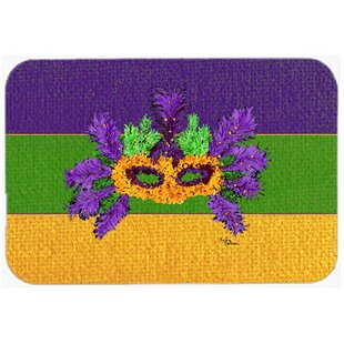 Review Mardi Gras Mask Glass Cutting Board By Caroline's Treasures