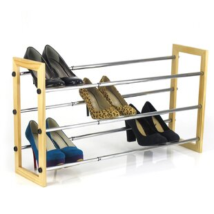 Affordable Price Sunbeam 3 Tier Expandable 15 Pair Shoe Rack By Sweet Home Collection