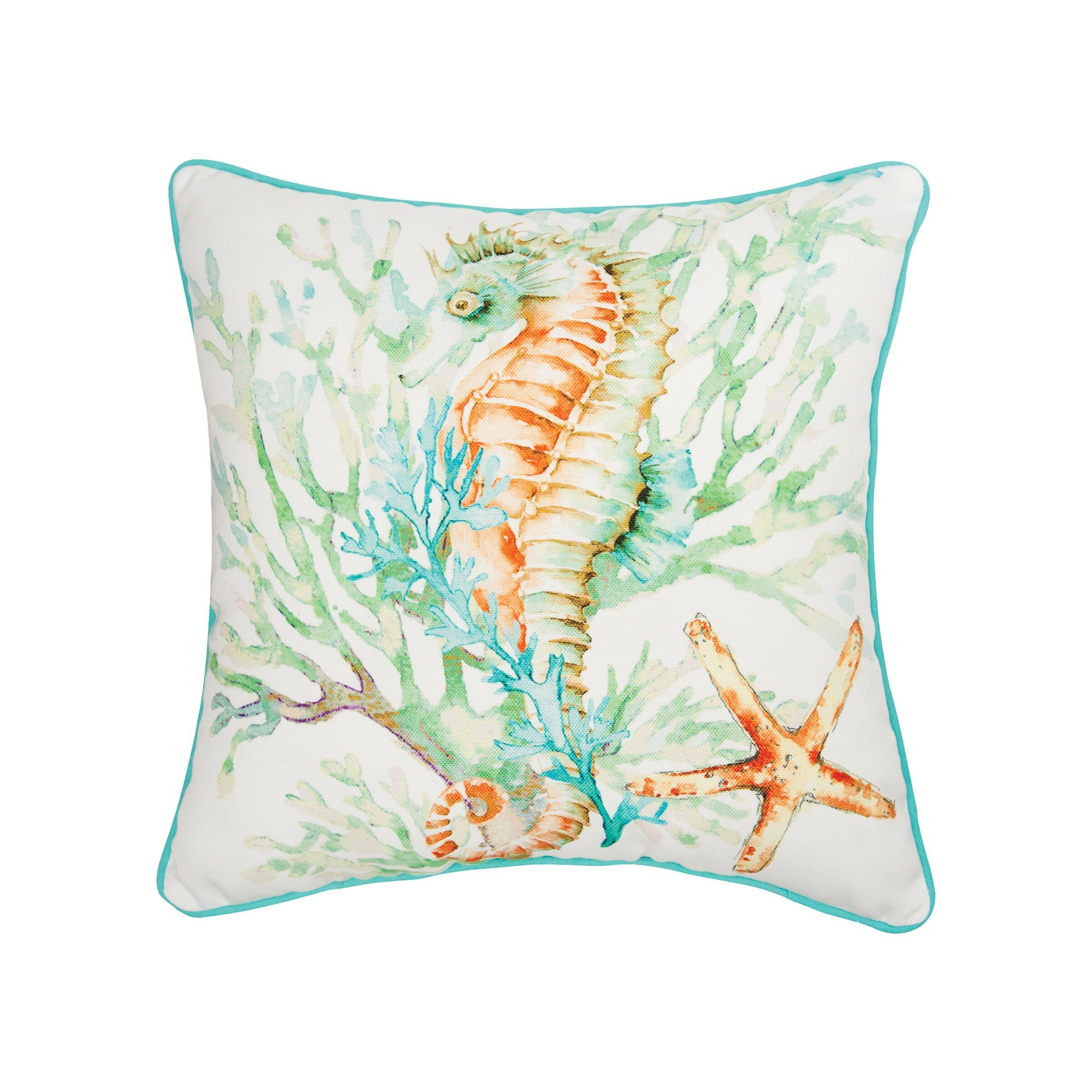 Highland Dunes Kyser Seahorse Throw Pillow Wayfair