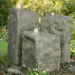 Glass Fiber Reinforced Concrete Rock Watershed Triple Pondless Fountain Kit