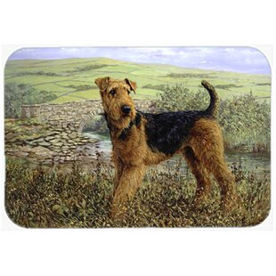 Airedale Terrier The Kings Country Glass Cutting Board