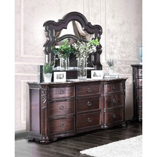 Rippy 9 Drawer Dresser with Mirror