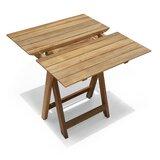 Pedersen Folding Solid Wood Bistro Table