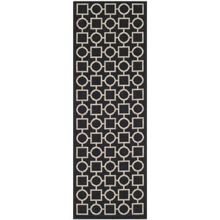 Jefferson Place Black/Beige Indoor/Outdoor Area Rug