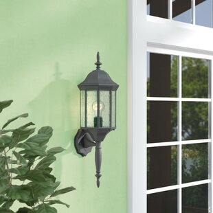 Shelburn Outdoor Wall Lantern by Three Posts