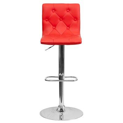 Marvelous Wade Logan Clay Adjustable Height Swivel Bar Stool Set Of 2 Cjindustries Chair Design For Home Cjindustriesco