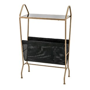 Lora Iron Frame End Table with Glass Top by Ivy Bronx