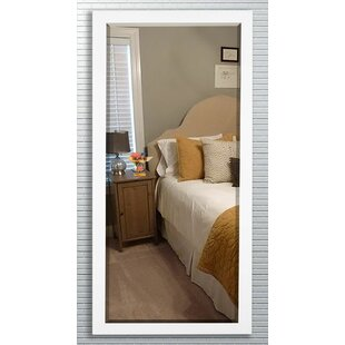 Check Prices Beveled Satin white Wall Mirror ByDarby Home Co