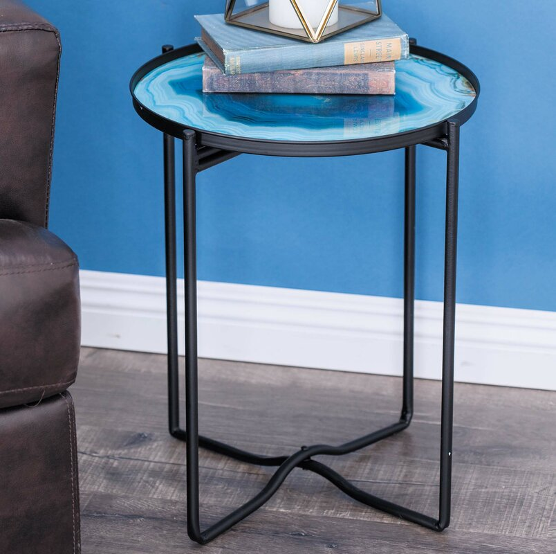 Exceptional Metal/Glass End Table