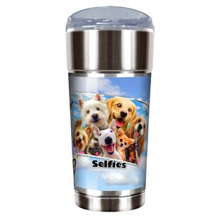 Dog Selfies 24 oz. Stainless Steel Travel Tumbler