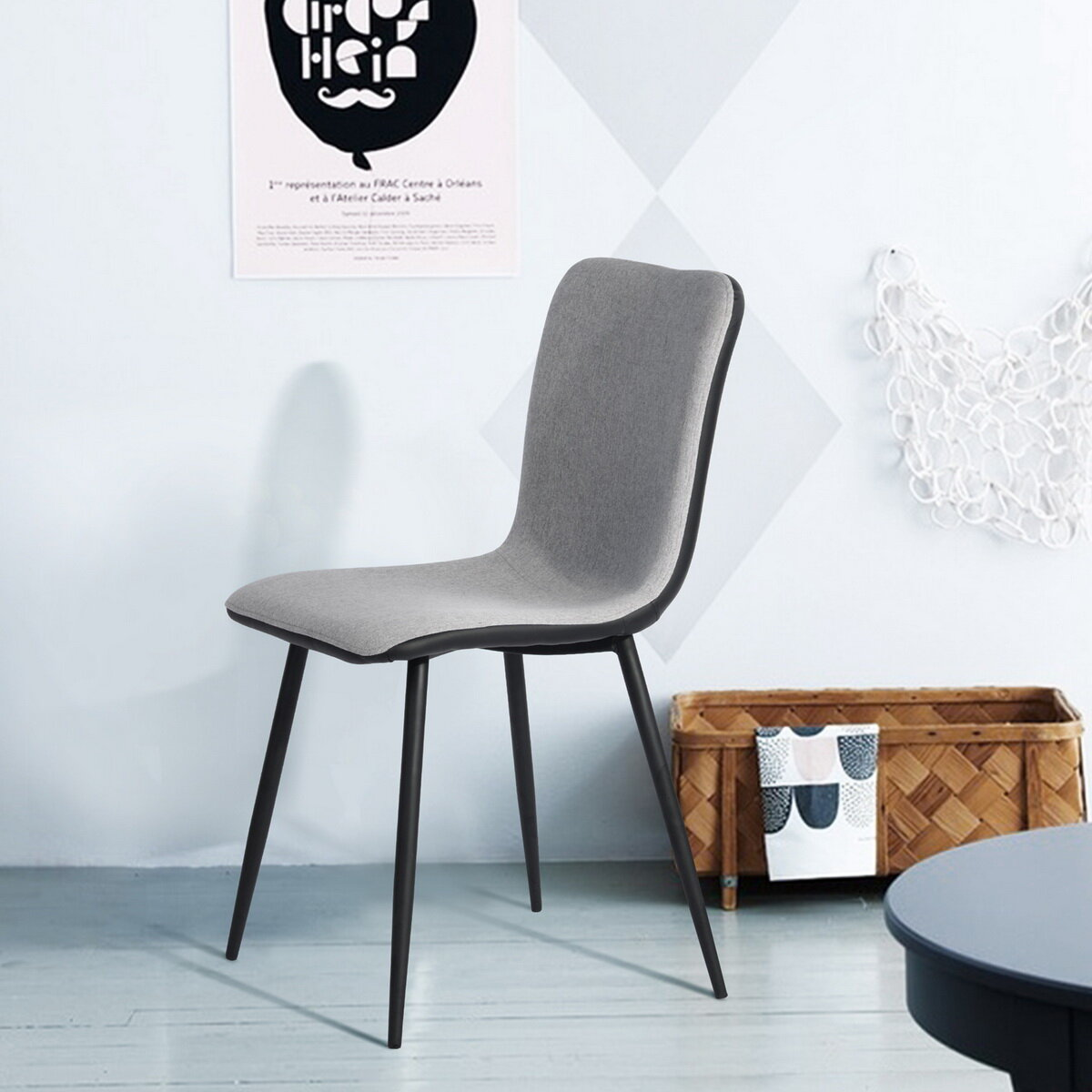 Foundstone Blumberg Upholstered Side Chair In Gray Wayfair
