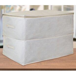 Rebrilliant Jumbo Foldable Canvas Underbed Storage Bag