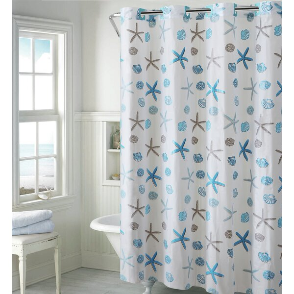 Hookless Seashell Shower Curtain Reviews