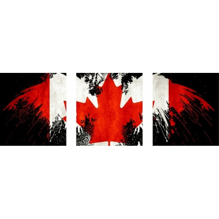 Winston Porter Canadian Flag Graphic Art Print Multi Piece Image
