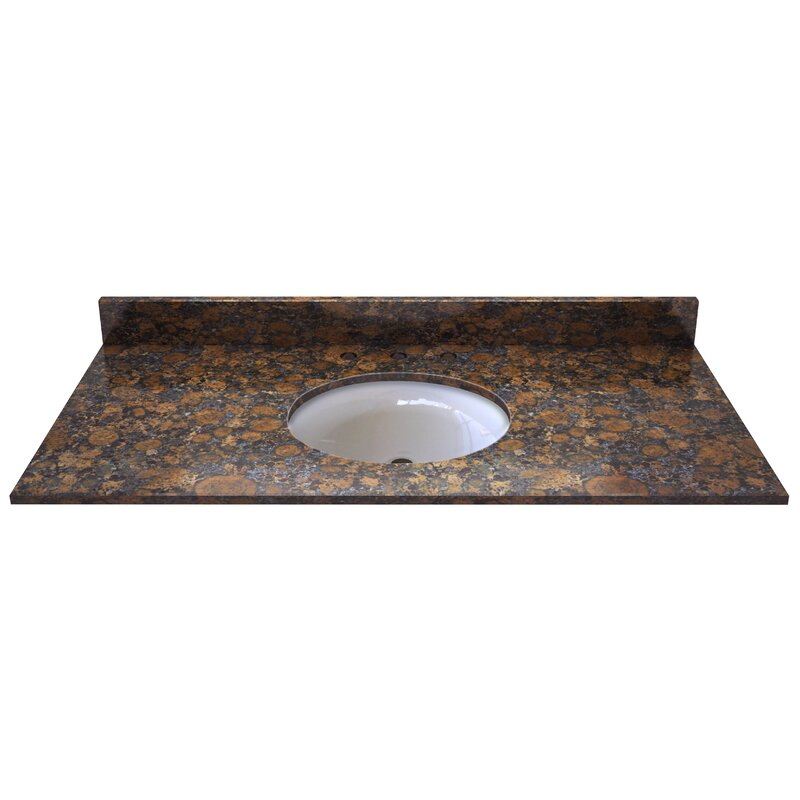 Darby Home Co Griffithville Natural Stone 49 Single Bathroom Vanity Top Wayfair