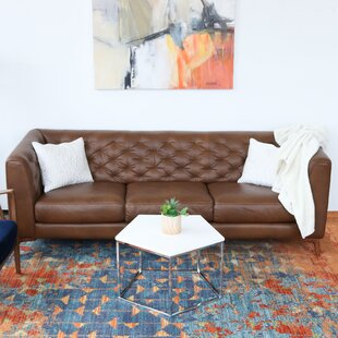 Essie Chesterfield Leather Sofa by Corrigan Studio